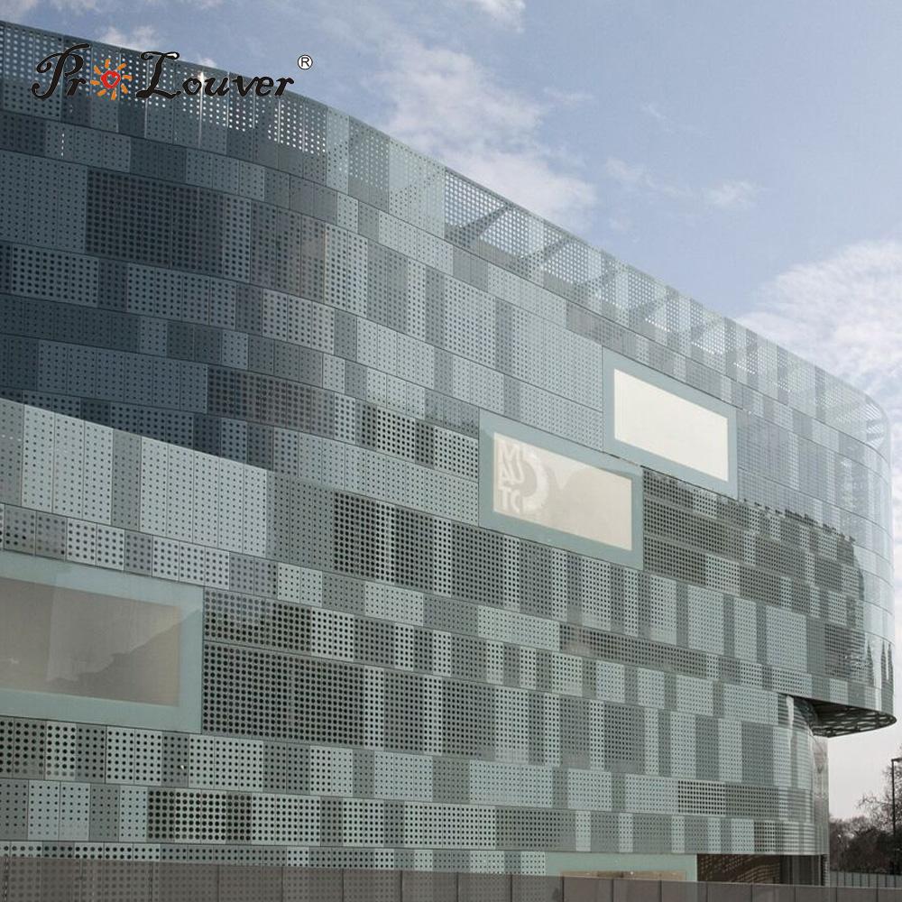 Sun shading,Custom image perforated aluminum sheet,aluminum perforated wall cladding panel