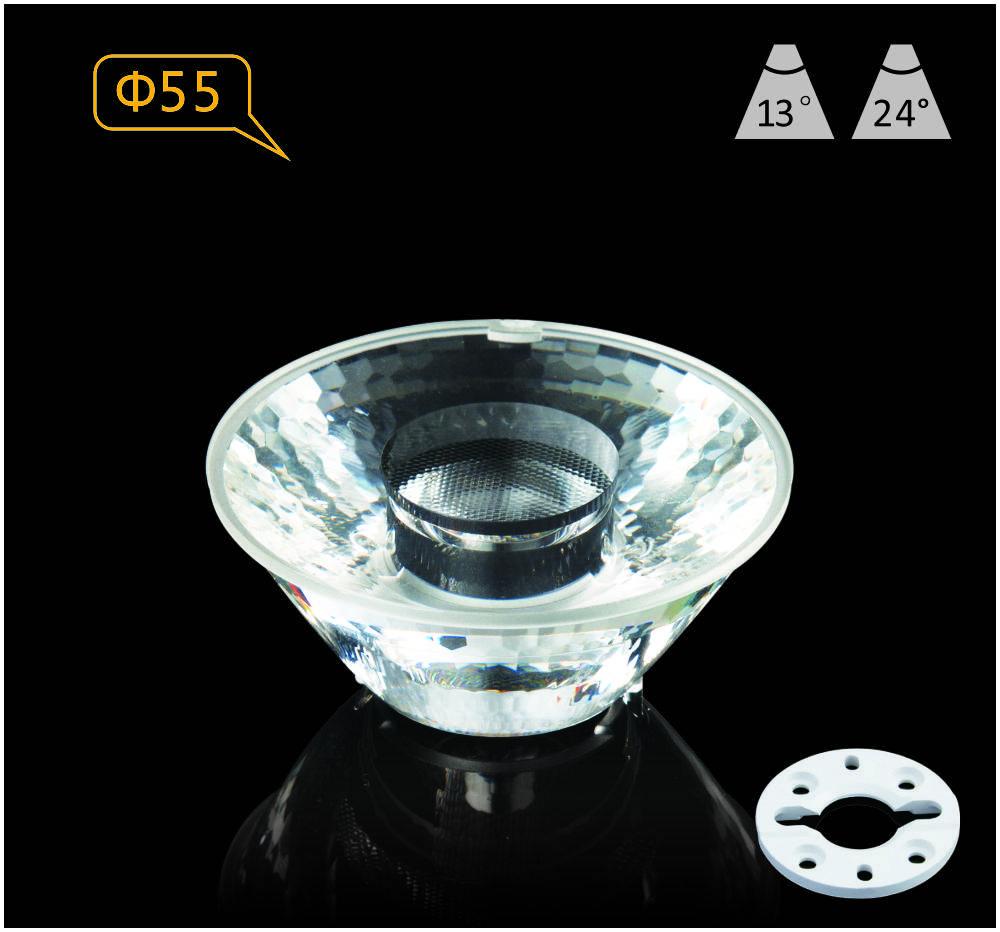 PMMA plano LED lens 55mm