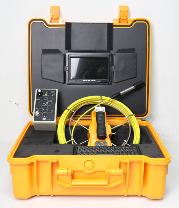 New underwater pipe inspection camera with DVR and digital cable length counter