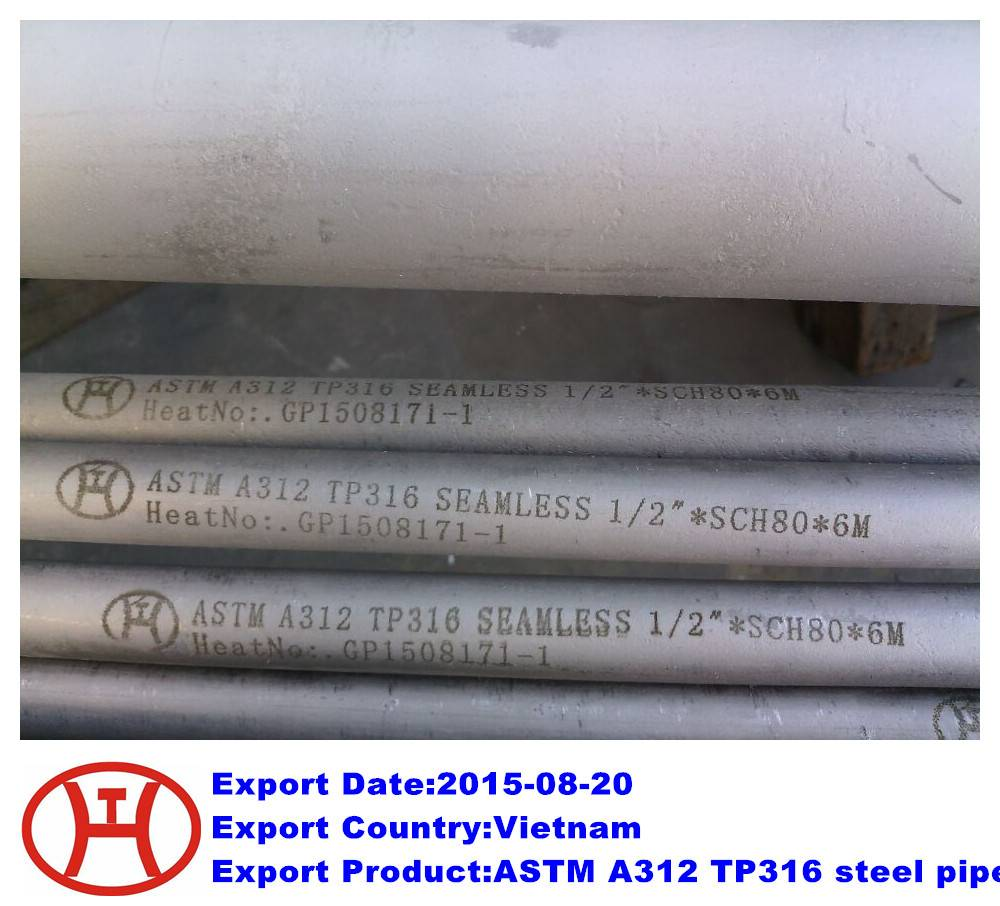 ASTM A312 TP316 steel pipe
