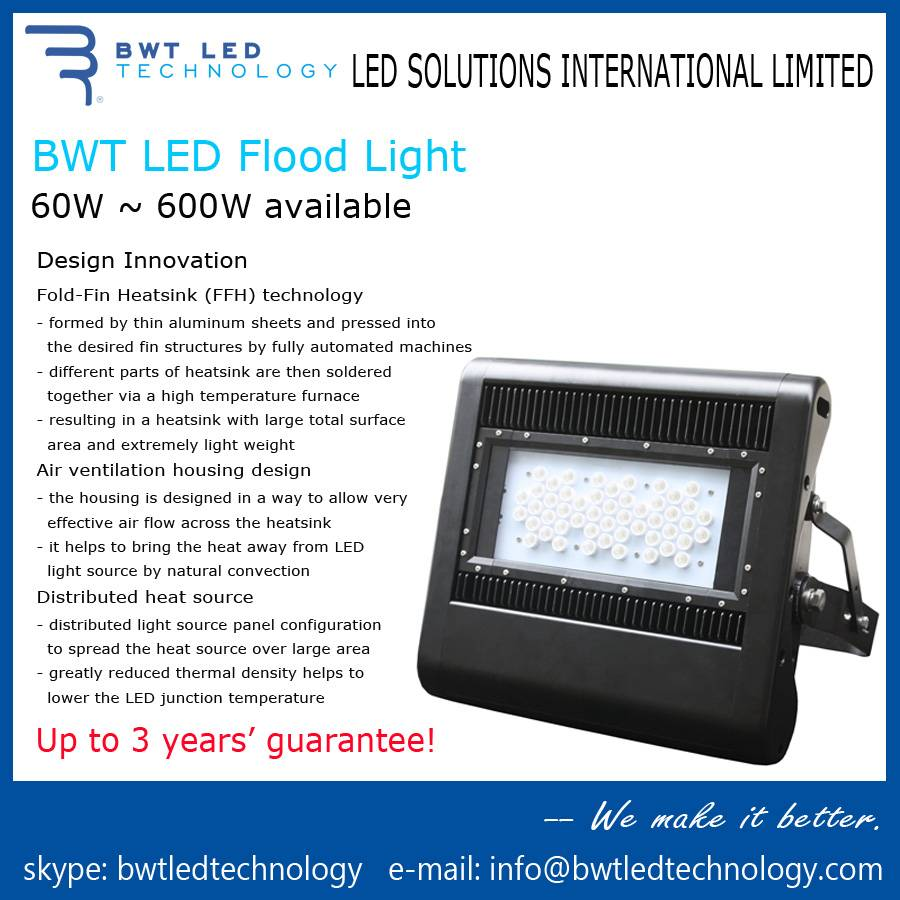 BWT LED Flood Light 100W 3 Years' Guarantee