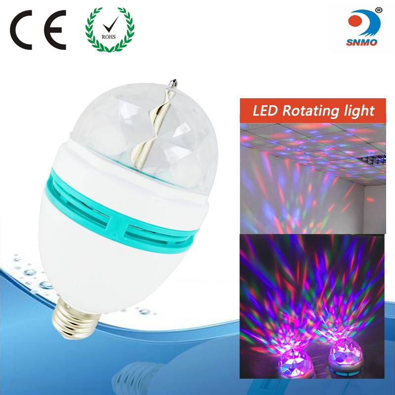 3w crystal magic rotating bulb