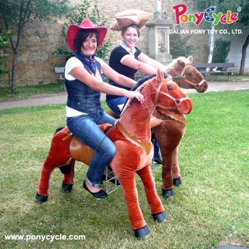 Amusement park ride on horse toy