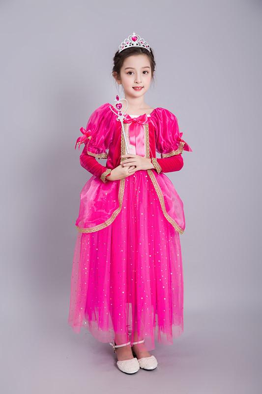 Beauty costumes Aurora Princess Dress Cosplay Costume Kids Dress Party Dress
