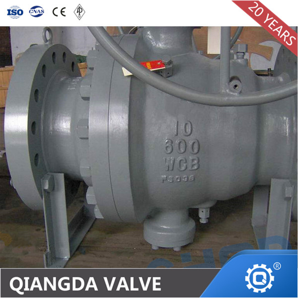 2-PC Trunnion Ball Valve, A216 WCB, API 6D, 8 Inch,300 LB, RF