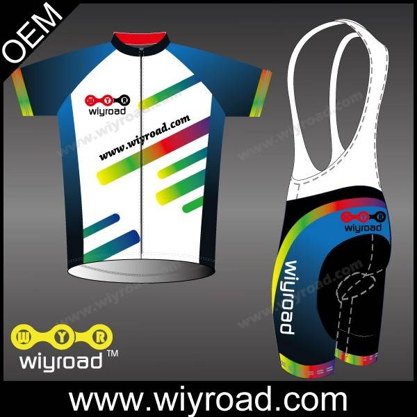 Accept sample order sublimation bicycle clothing/uv-protection cycling clothing/cycling set men