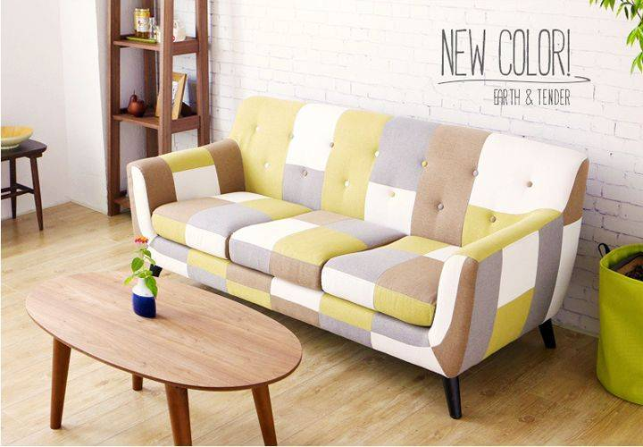 Simple Modern Style Fabric Sofa