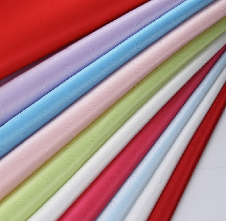 Polyester 75D×150D Dull Twisted Satin Fabric 140 gsm, 60 inch width