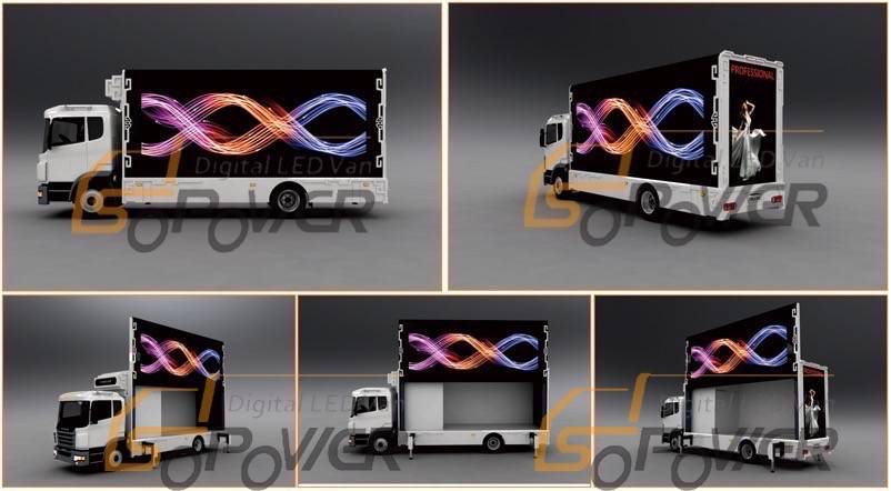 SoPower Video Display Function LED Mobile Stage Truck For Sale iTruck9