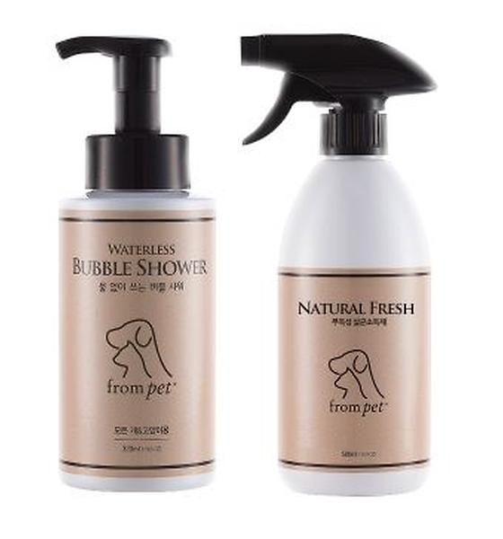 Dog, cat take a shower without water, waterless shampoo for animal