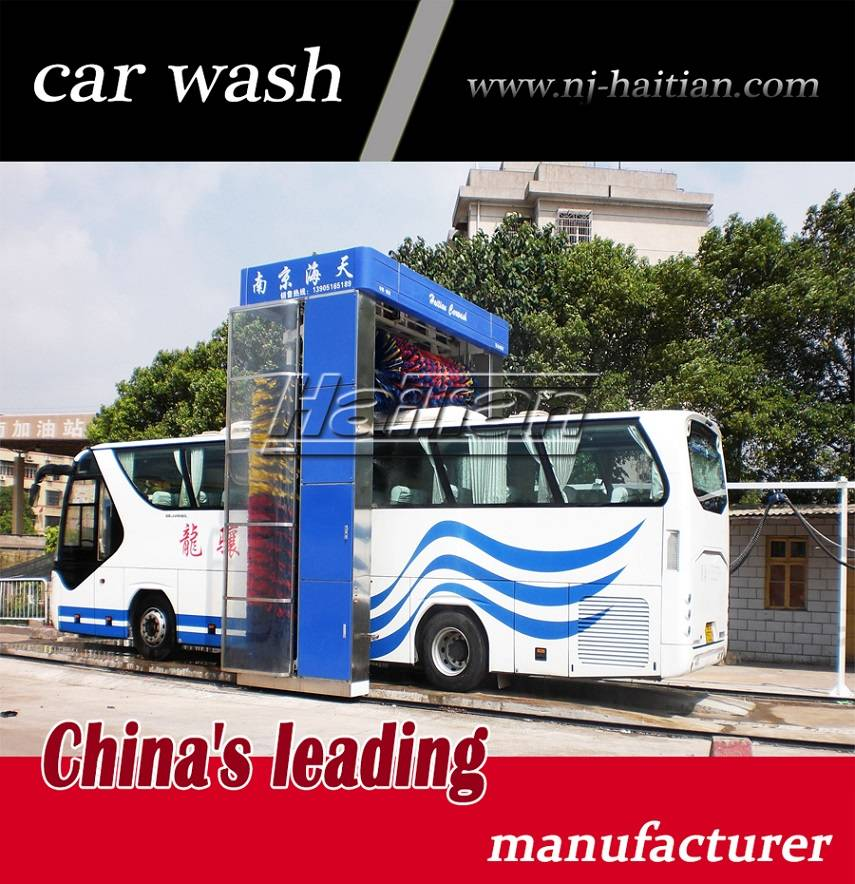 Roll-over bus wash machine with control system, bus wash machine with CE and ISO quality certificati