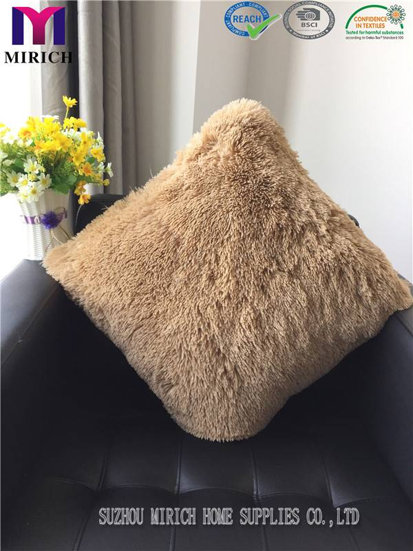 Long Pile Plush Made in China Polyester Bedding Back Cushion
