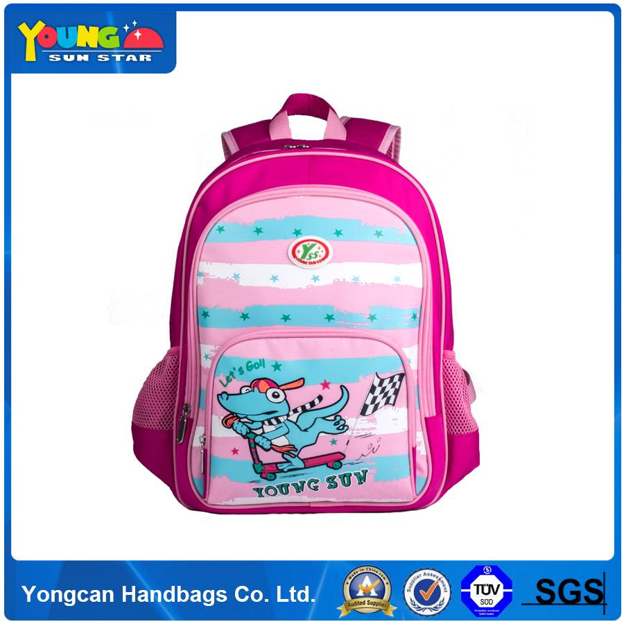 China Manufacture pink school backpack bag for children