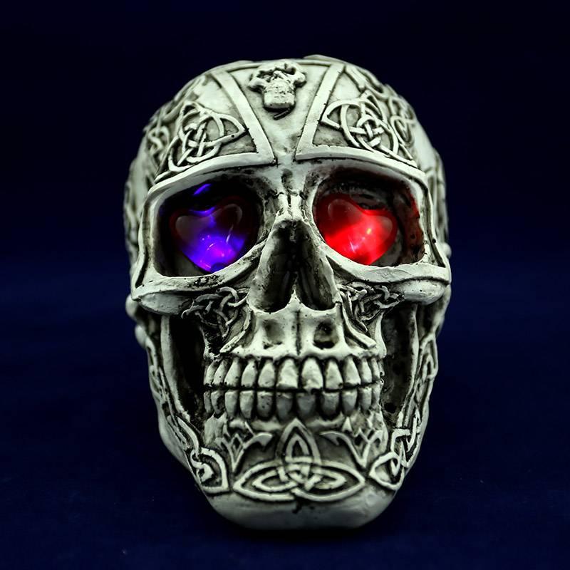 Halloween crafts of human skulls