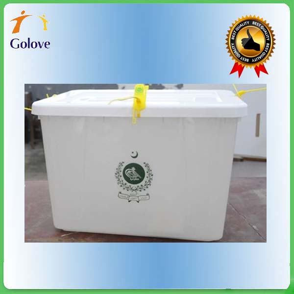 Various Color Transparent Plastic Voting Box For Election