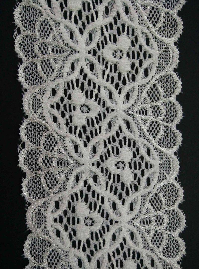 Nylon lace for garments,Made of spandex and nylon,good Stretch