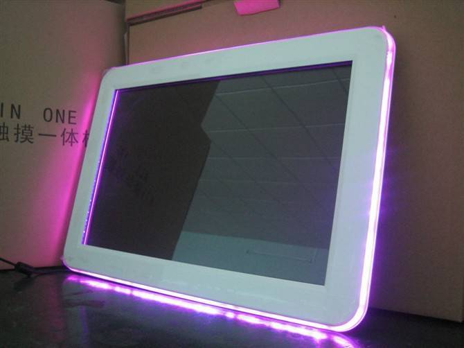 colour-changing touch screen