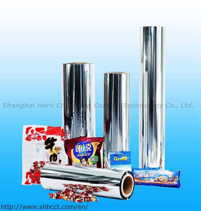 metallized PET film, metallized Polyester film, vacuum metallized, silver film