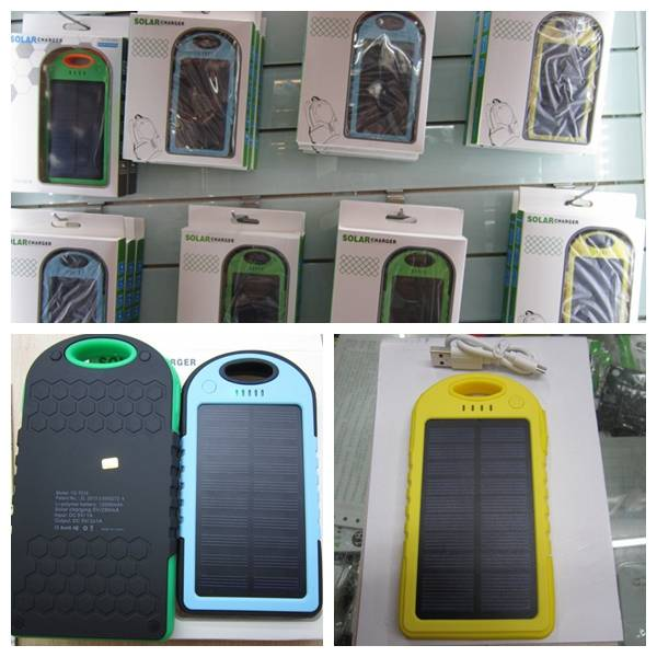 Solar Charger Power Bank/Portable Power for Samsung, Iphone, Alcatel,Oppo, Vivo, Gionee, MEIZU