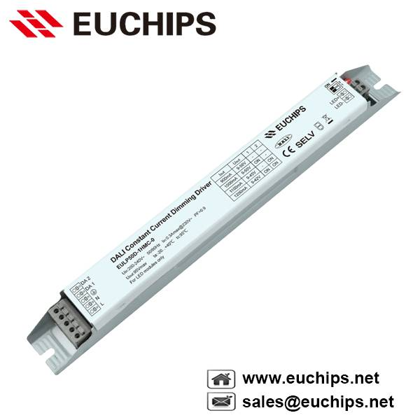 900/1000/1100/1200mA 50W 1 channel dali constant current led dimmable driver EULP50D-1HMC-0