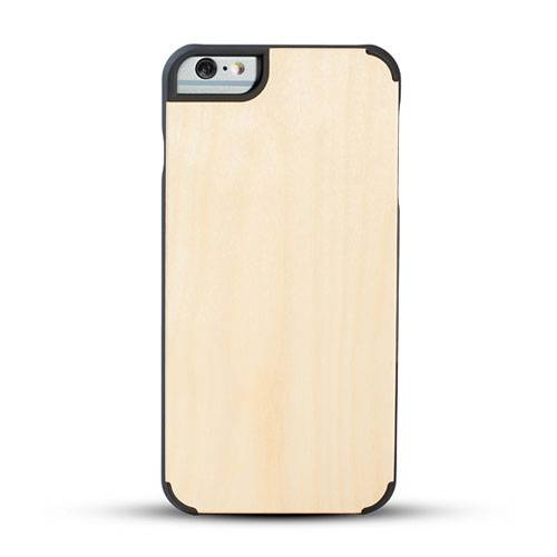 New design premium wood phone case solid phone protective cord back high quaility Iphone6/6P Maple