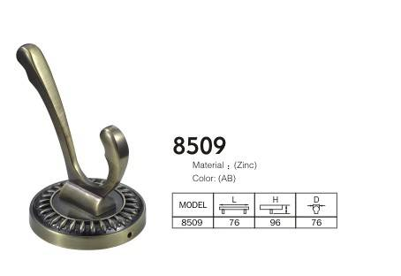 Large antique brass coat hooks fashion antique rustic hook bronze 8509