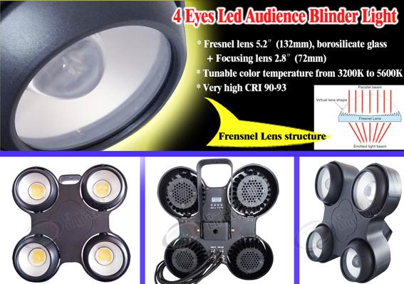 Outdoor 4 Eyes Led audience blinder light 4100w