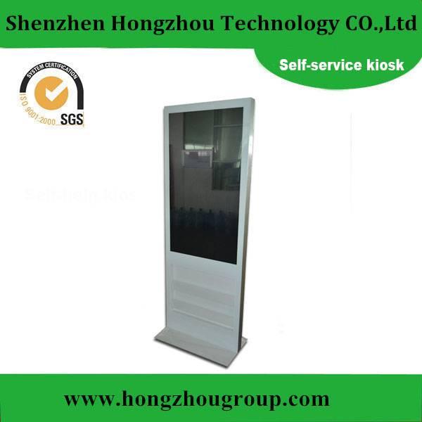 Dual Screen Lobby Standing Self-service Terminal Kiosk