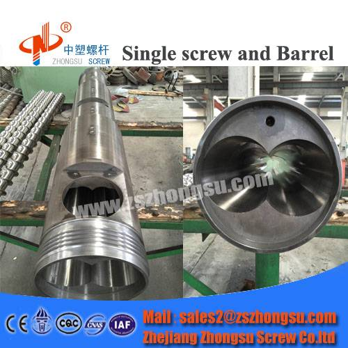 Plastic WPC Extruder Twin Screw Barrel for Moulding