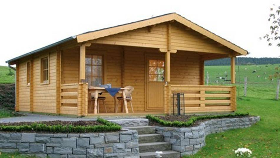 American MIddle West style prefabricated small wooden house cheap wooden villa