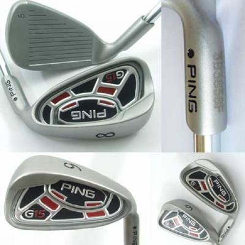 PING G15 Iron Set Golf Iron Golf Club 4-PW, SW with Steel Shafts