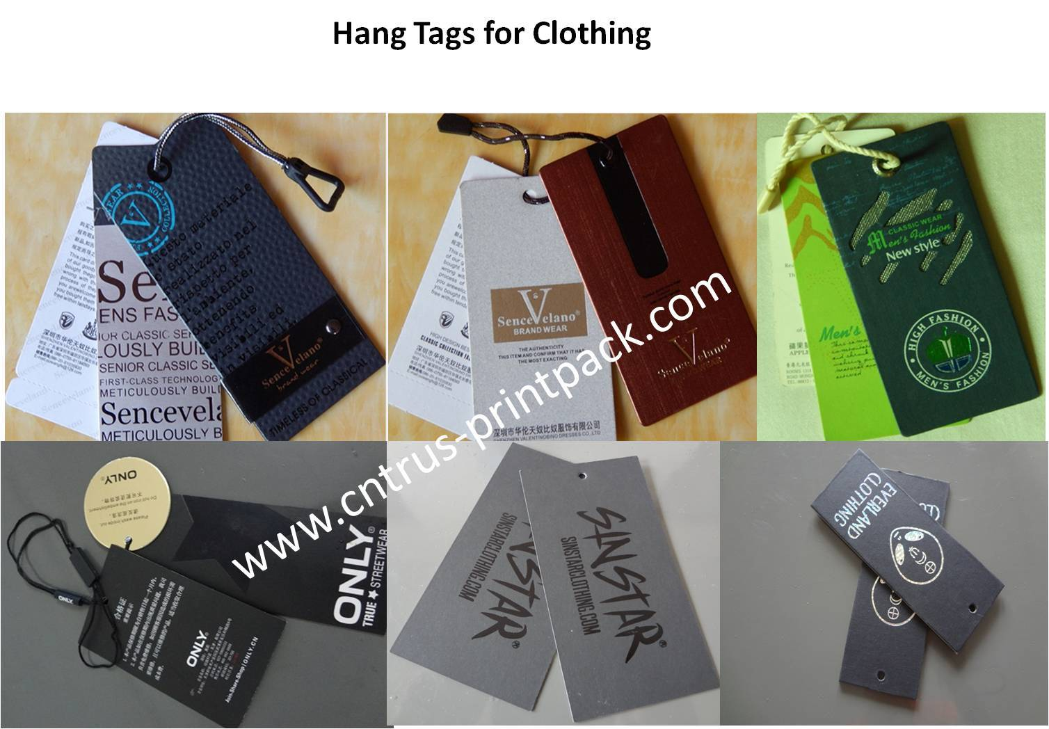 Garment Hang Tag With Strings