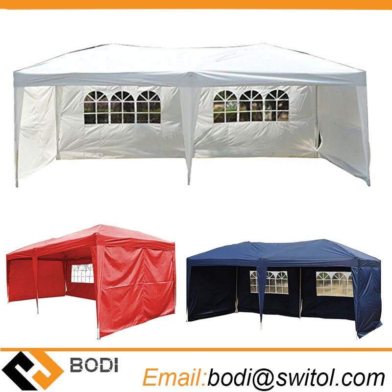 Factory Sale Easy Pop up Outdoor Party Wedding Large 10X20 Feet Canopy Tent Removable Sidewalls