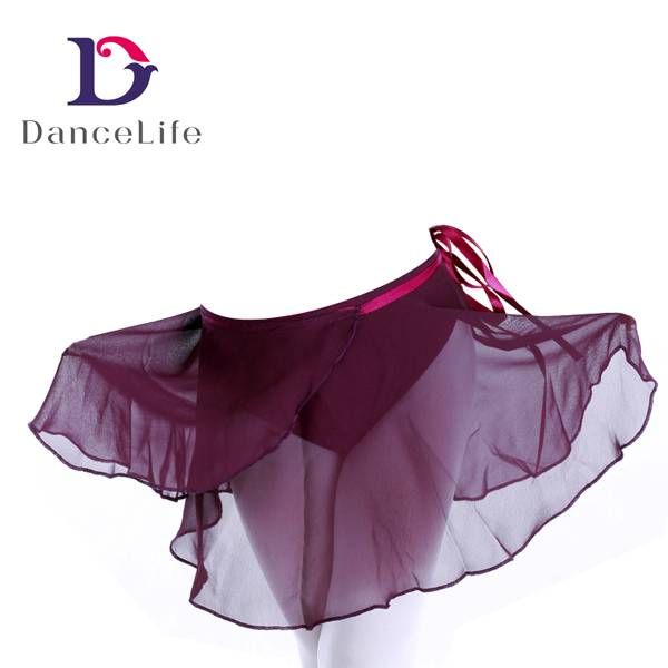 Girl's Wrap Chiffon Skirt with Ribbon Self Tie, Made of Chiffon in Various Colors