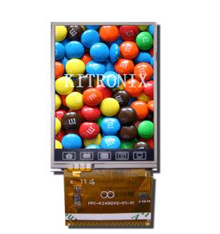 """2.4"""" TFT LCD Module with Touch Panel & LCD Controller (K240QVK-V69-F)"""