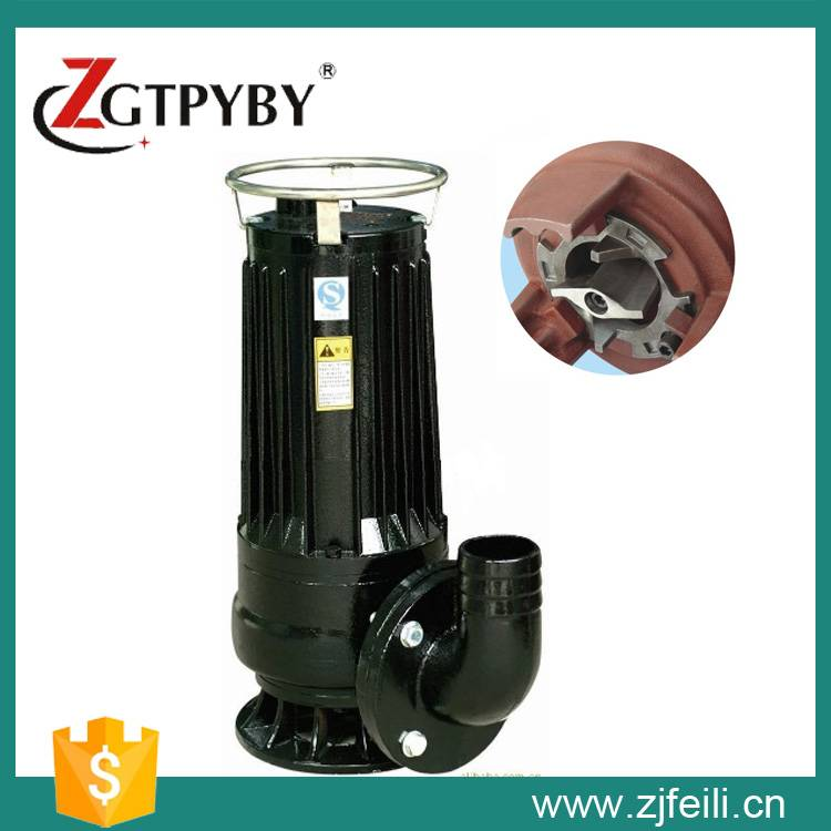 China Manufacturer submersible dirty water pump with cast iron impeller