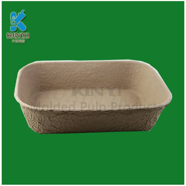 Dry press molded pulp seedling trays