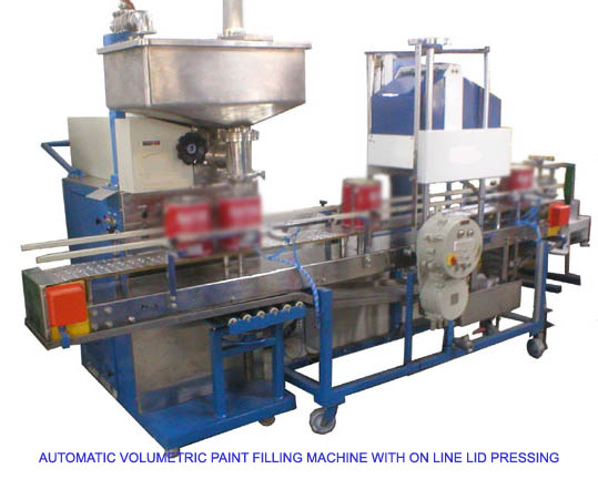 Automatic Paint Filling Machine with Online Lid Pressing