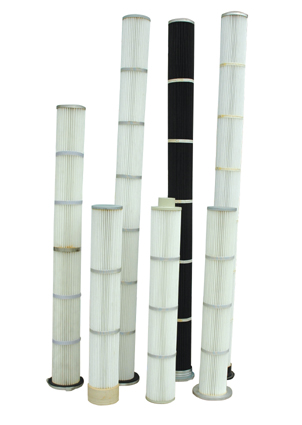 Replacement cartridge filter for dust collector