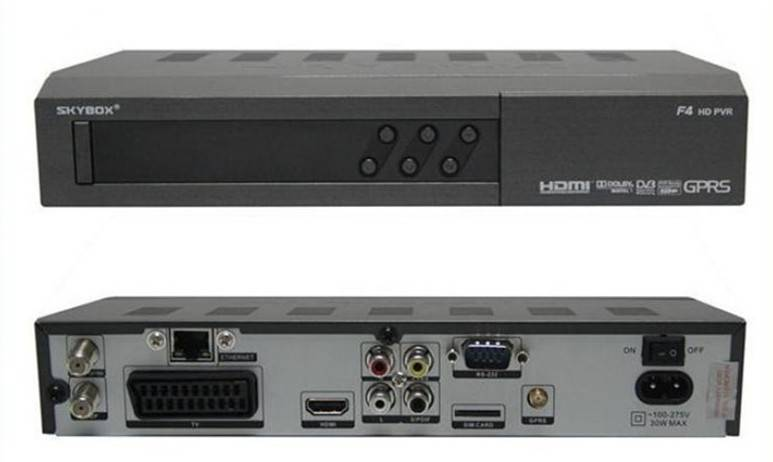 Original Skybox F4S Satellite Digital Receiver Support USB Youtube Youpron CCCAM/NEWCAM/MGCAM