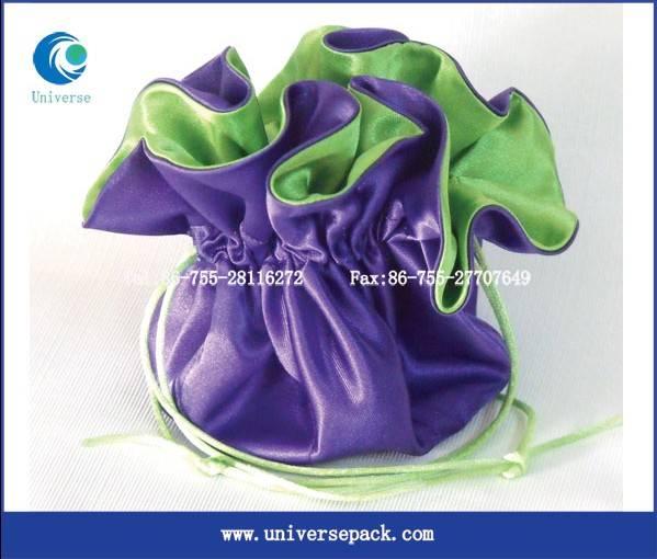 Newest design drawstring  satin jewerly bag
