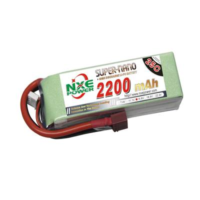 NXE2200mAh-25C-14.8V Softcase RC Helicopter Battery