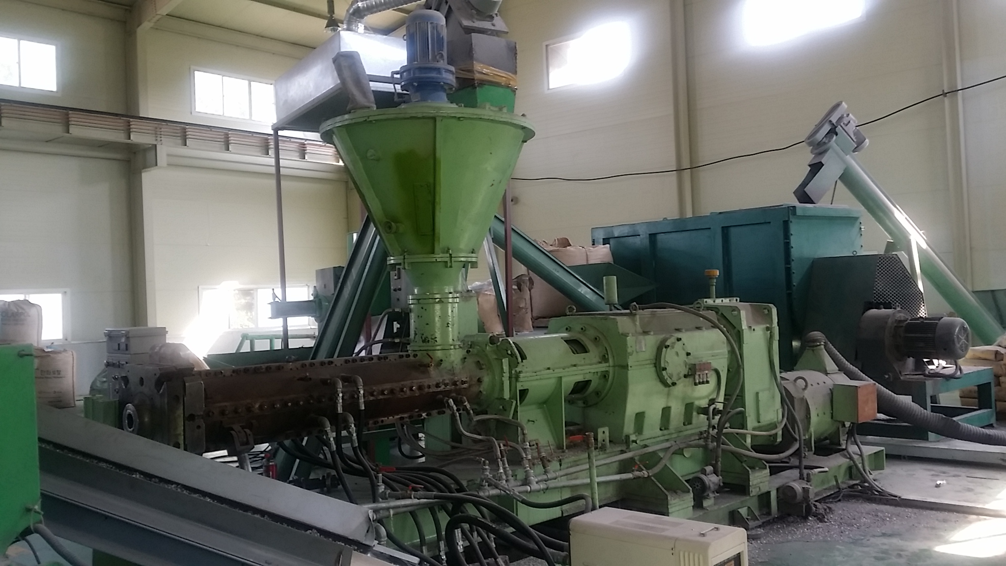 pvc compound mixing Buss kneader