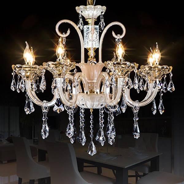 glass arm modern crystal chandelier pendant lighting