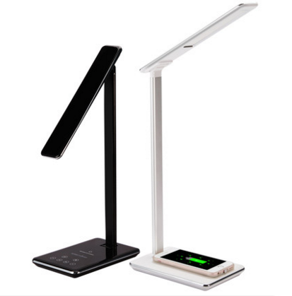 2018 stand table lamp with qi wireless charger for phone, hot slae desk lamp on sale