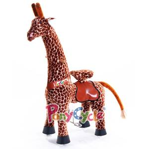 PonyCycle Plush Walking Horse with Wheels and Foot Rest