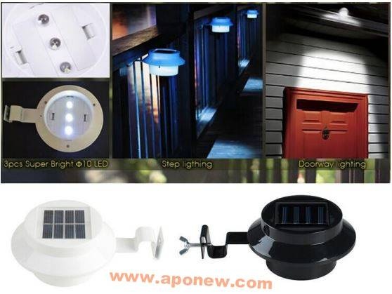 Solar LED gutter light / Solar Step Light / Solar Fence Light / Solar Doorway Lighting