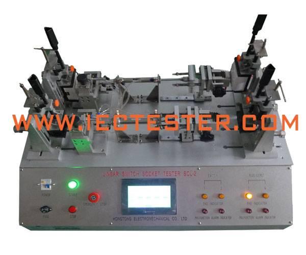4 Work Stations PLC Pneumatic Switch Plug Socket Endurance Test Machine