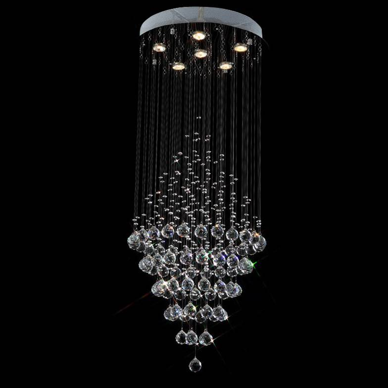 good quality and competitive price of round modern crystal ceiling light 6003-6