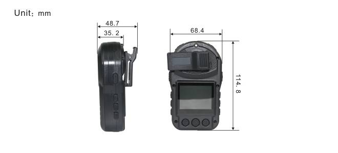 Body worn camcorder for police